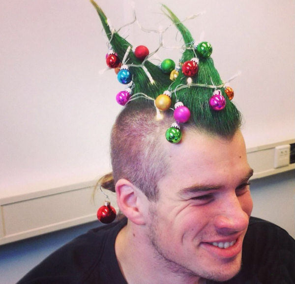 Avere un albero di Natale per capello!