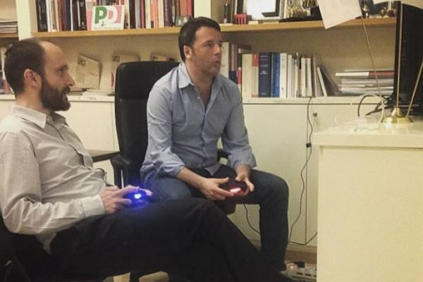 Renzi e la Play Station