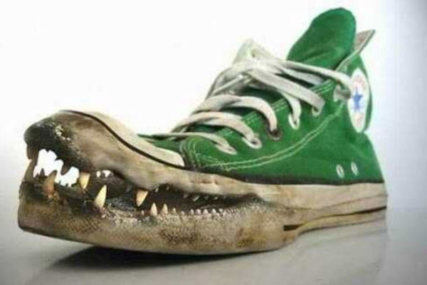Una scarpa aggressiva