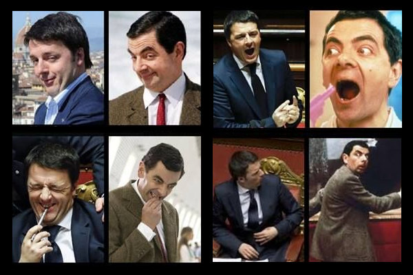 Renzi vs Mr Bean trovate le differenze!