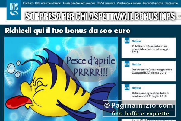 Bonus da 600 Euro o pesce d'aprile?