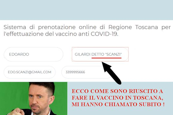 Come sono riuscito a fare il vaccino in Toscana