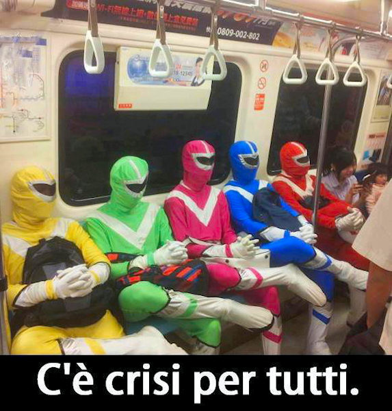 Power Rangers disoccupati!