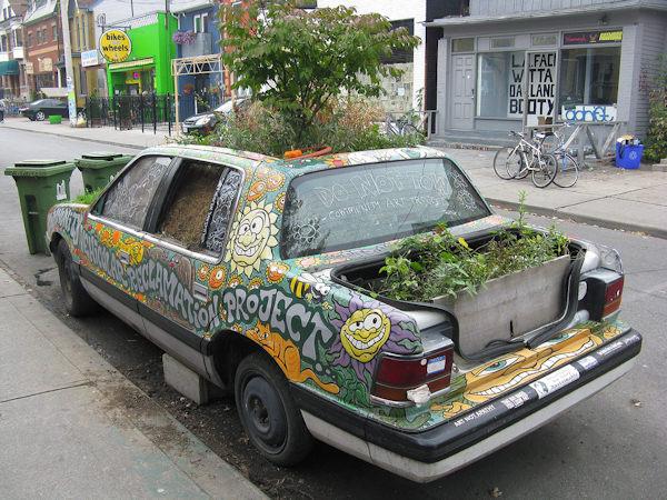 Un'auto green!