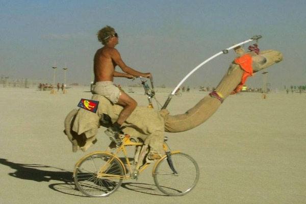 La bici per il deserto