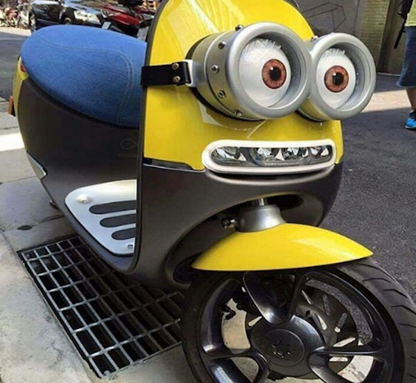 Minions scooter!