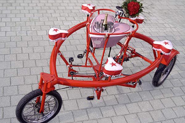 Tre ruote per festeggiare San Valentino