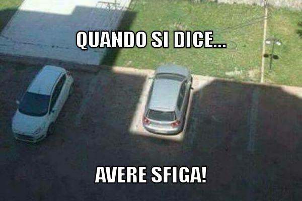 Quando parcheggi l'auto all'ombra...
