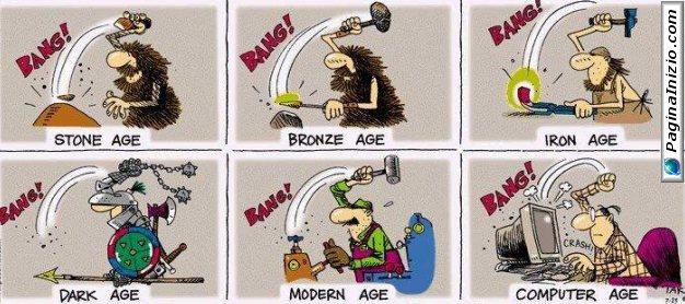 L'evoluzione della tecnologia...