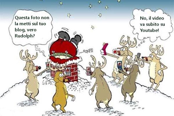 Renne Babbo Natale.Vignetta Se Anche Le Renne Di Babbo Natale Sono Tecnologiche