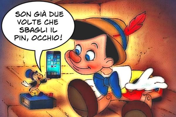 Pinocchio e lo smartphone