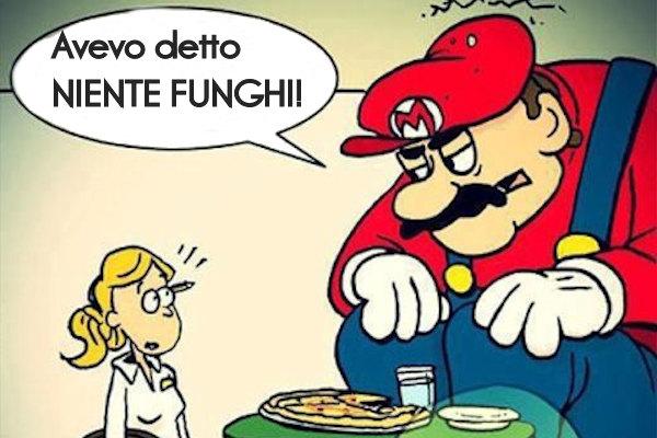 A Supermario non piacciono i funghi