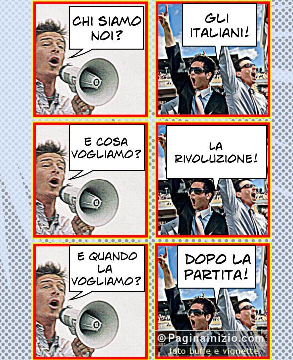 Gli italiani e la partita