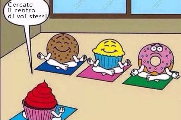A lezione di yoga...