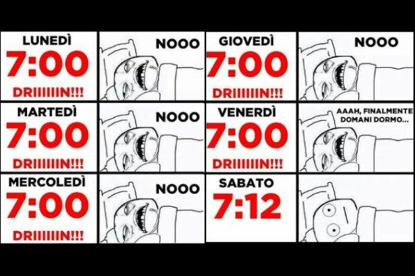 E' ora di alzarsi!