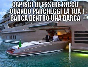 Parcheggio in barca