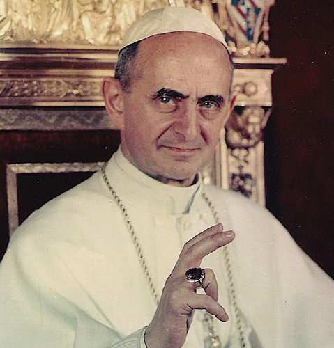 Foto di papa paolo vi
