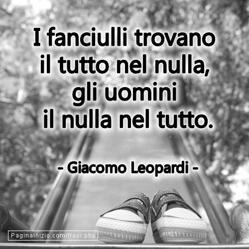 Frasi Di Giacomo Leopardi