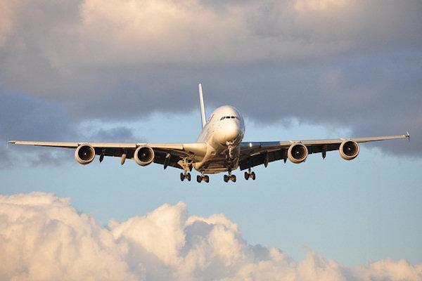 Aereo A380 in volo