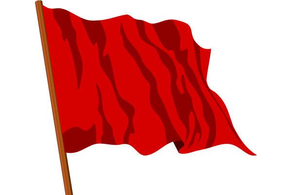 La bandiera rossa divenne simbolo di rivolta durante la Rivoluzione francese
