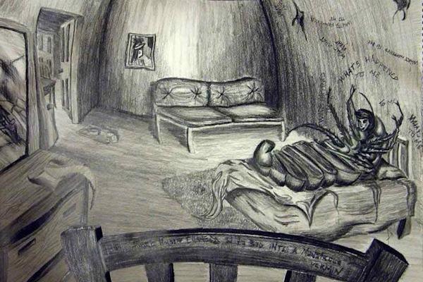 Disegno di Aaron Nosan ispirato al racconto