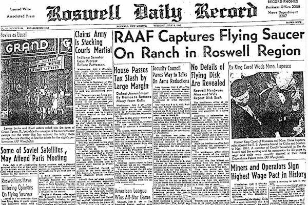 Cronaca dello schianto di Roswell