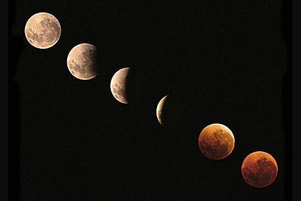 Fasi dell'eclissi lunare