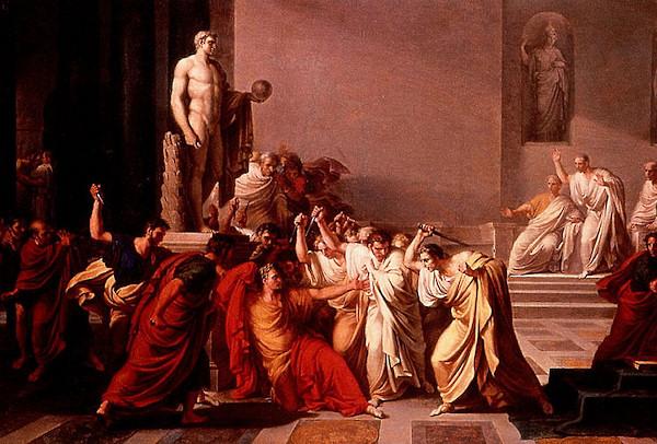 La morte di Cesare - Vincenzo Camuccini