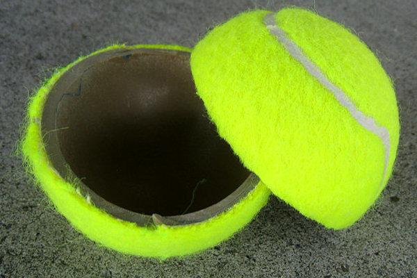 Sezione di una pallina da tennis