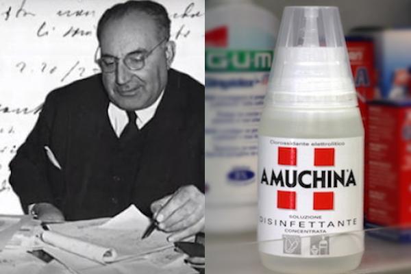 Oronzio De Nora ha brevettato l'Amuchina negli anni '20