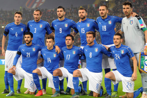 La nazionale italiana agli Europei 2016