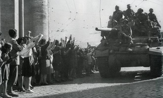 L'arrivo delle truppe USA per la liberazione di Roma (1944)