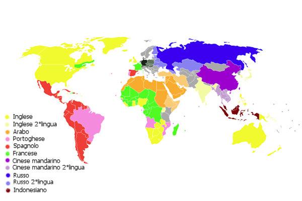 L'inglese e il cinese mandarino sono le lingue più conosciute al mondo