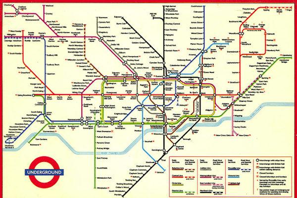 Mappa della metro di Londra