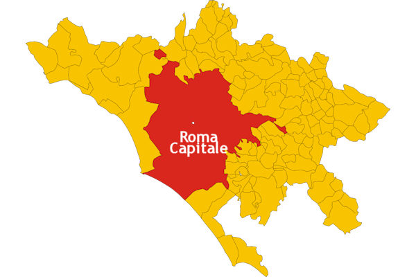 Nel territorio di Roma vi è il comune autonomo Roma Capitale