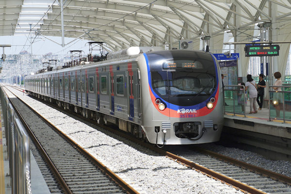 Treno linea Suin metropolitana Seul