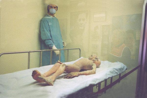 Manichino ufo esposto al Museo Internazionale di Roswell