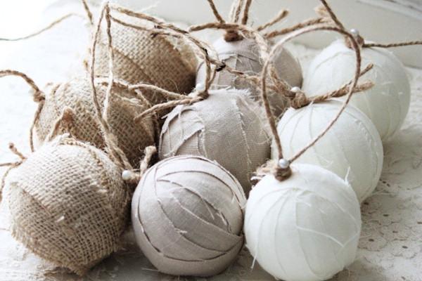 Shabby Chic Natale : Come si fanno le palline di natale shabby chic