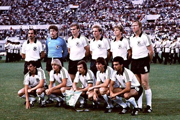 Formazione Germania ovest europei 1980