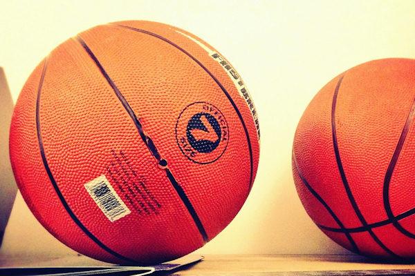 La palla della pallacanestro è