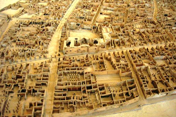 Plastico della città di Pompei