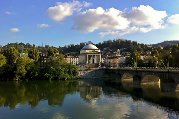 Il fiume Po a Torino
