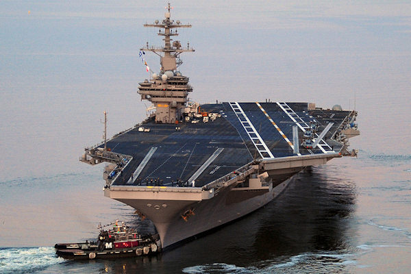 La portaerei più grande del mondo è la USS George H. W. Bush (CVN-77)