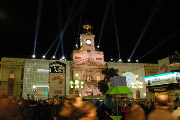 I rintocchi magici sono dell'orologio della Puerta del Sol di Madrid