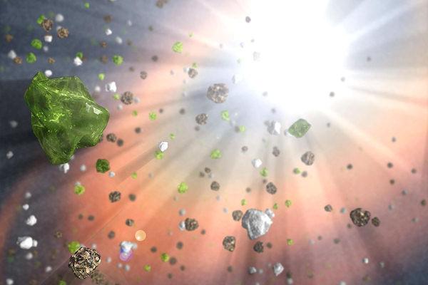 Immagine di un quasar realizzata dalla NASA