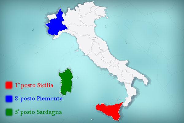 La Sicilia è la regione più grande d'Italia