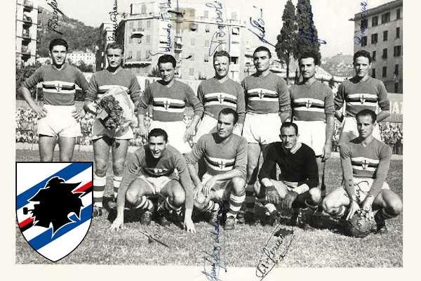 La prima formazione della Sampdoria (1946)