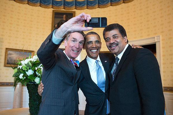 Selfie di Nye, Obama e Tyson
