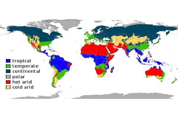 I principali tipi di clima nel mondo