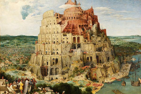 Dipinto della Torre di Babele ad opera di Pieter Bruegel il Vecchio